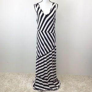 Lane Bryant Maxi Dress Black White Striped